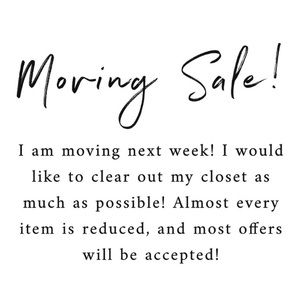 all reasonable offers accepted!!